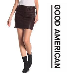 Good American Coated Mini Skirt
